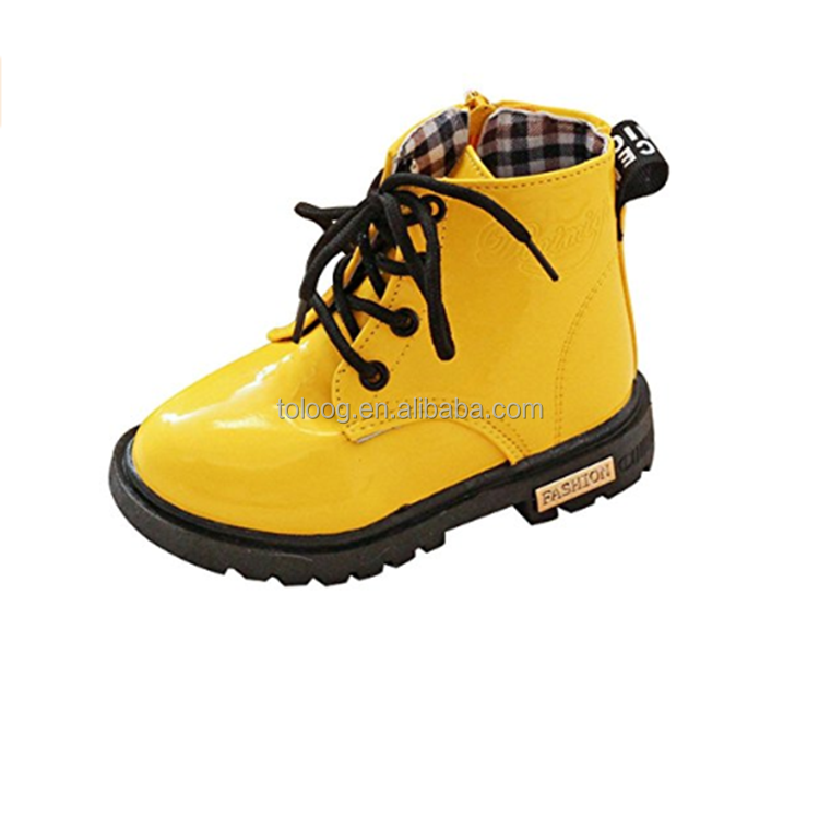 Waterproof Martin style Baby Kids Boys Girl Ankle Rain Boots with Zipper