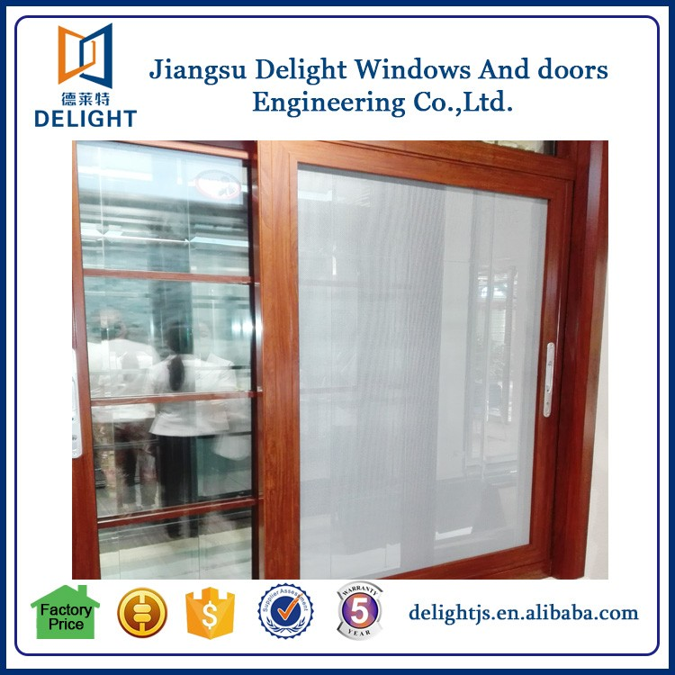 Home product alu window composite wood made in china