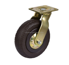 <strong>10</strong> inch 250mm solid foam rubber swivel caster