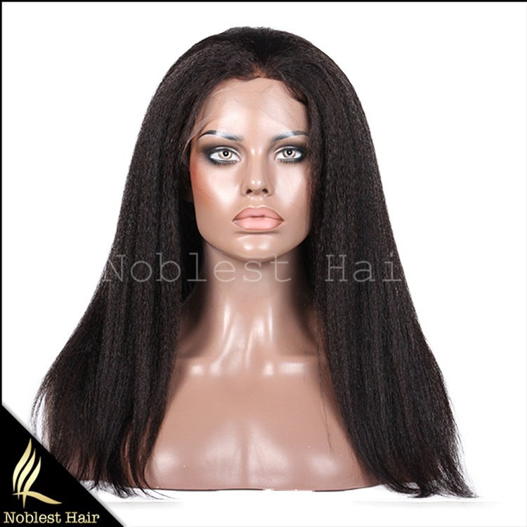 7A Glueless Kinky Straight Full Lace Wigs For Black Women Unprocessed Virgin Brazilian Human Hair Wigs ,Lace Front Wig