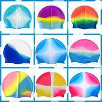 OEM Lycra Nylon Spandex Multicolored Adults Cheap Price Waterproof Silicone Swim Cap