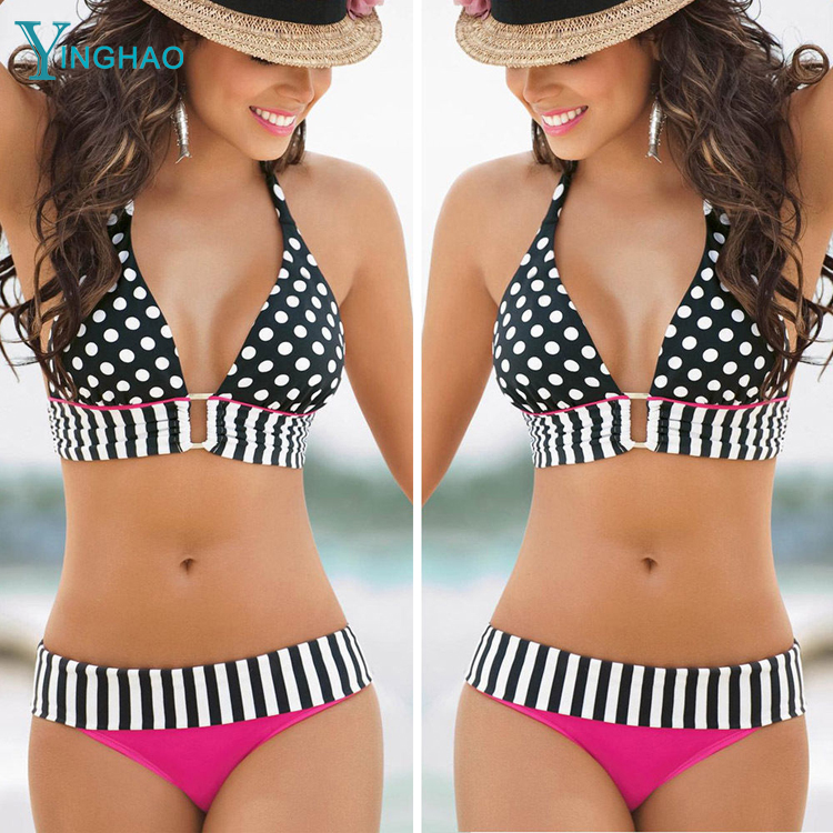<strong>Manufacturers</strong> wholesale quick sell through ebay burst bikini swimsuit ladies sexy neck straps swimsuit bikini