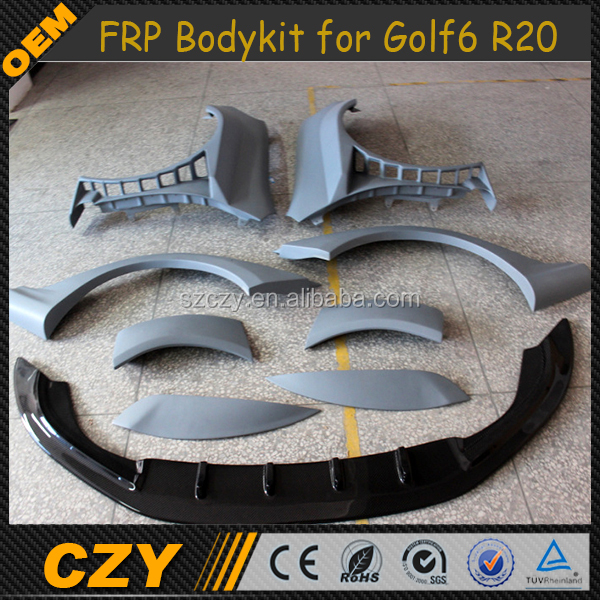 R20 MK6 FRP Wide Full Set Body Kit for VW Golf VI R20 MK6
