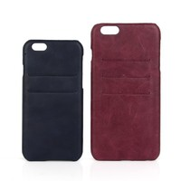Personalised PU leather and PC phone case for iPhone 6 cell phone