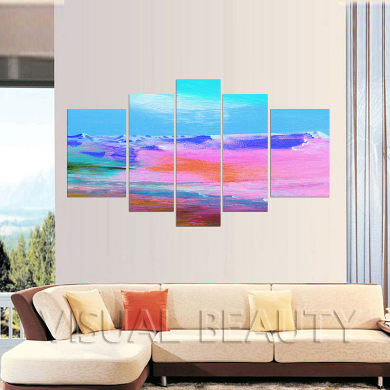 5 Panel Canvas Wall Art/Abstract Paintings On Canvas/Colorful Large Wall Canvas