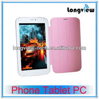 7inch Dual core phone call with smart cover china tab mobile phone