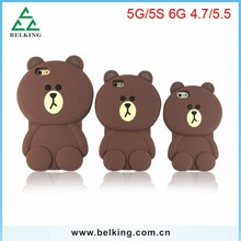 Covers 3D Cartoon Bear Soft Silicone Cases For iPhone 6 6 Plus Mobile Phone Accessory Silicon Case
