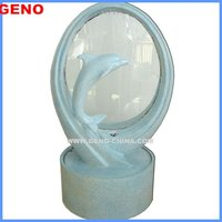 Fiber Glass Fountain Pump with Dolphin Design