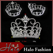 New Design Round Rhinestone Cheap Full Pageant Women <strong>Crown</strong> H172-169