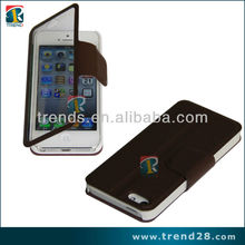 fashion design touch screen transparent flip case for Iphone 5