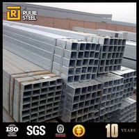 Pre-galvanized and hot dip galvanized square/rectangular steel pipe,Factory in Tianjin