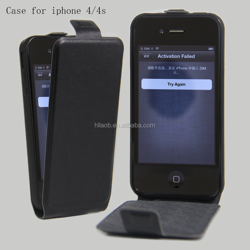 China factory hight qualiy leather phone case for iphone 4 4s, cell phone case / cover for iphone 4s