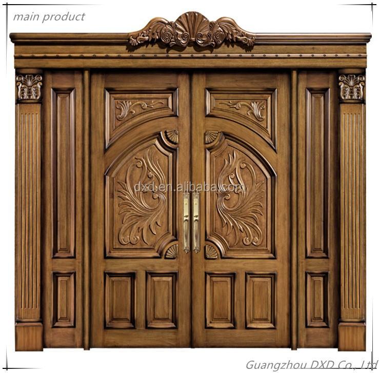 Precios puertas de madera maciza de lujo de doble puerta for Precio puerta madera maciza