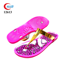cheap customized pvc jelly sandals for ladies