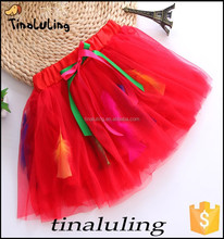 wholesale girls red fashion design ballet skirts,kids petticoats