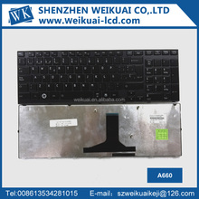 Laptop keyboard A660 for toshiba laptop parts