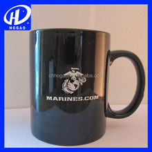 wholesale single color ceramic mug, black mug and white mug with your own logo