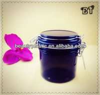 200g cylinder PET seal jar with steel ring