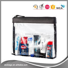 Hot sale Transparent Clear Plastic PVC Travel Cosmetic Bag With Zipper