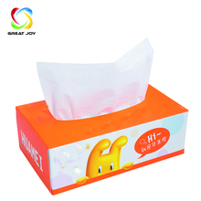 customized size white cardboard printed foil lined facial tissue box design