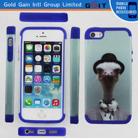New 2 Piece Hybrid Hard PC Soft Silicone Back Case Cover For iPhone 5