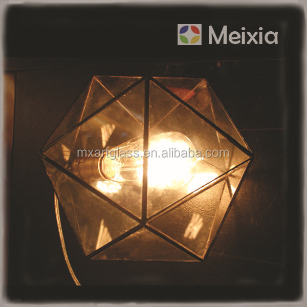 MX130026-L new style home decor glass terrarium lamp