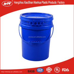 HDPE 5gallon Customed printed plastic bucket used for food/chemical products packaging