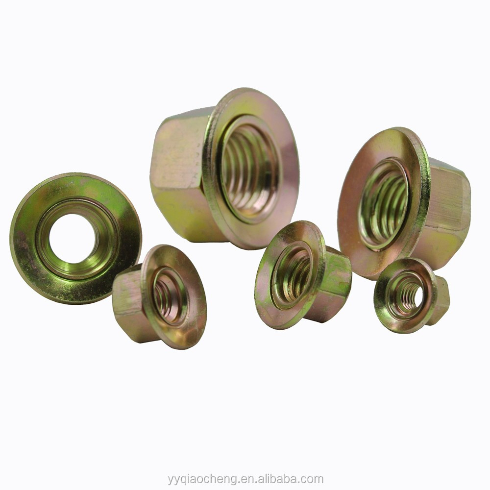 DIN standard Zinc Plated Carbon Steel Nuts with Conical Washer