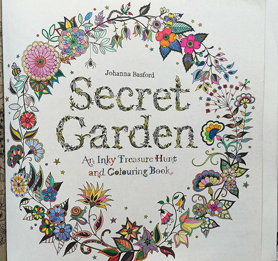 2015 New Arrive Hand Painted Coloring Book Secret Garden