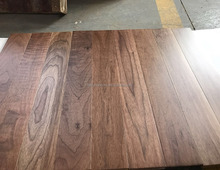 Solid American black walnut wood floors