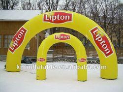 lipton yellow inflatable advertising entrance finish racing arch