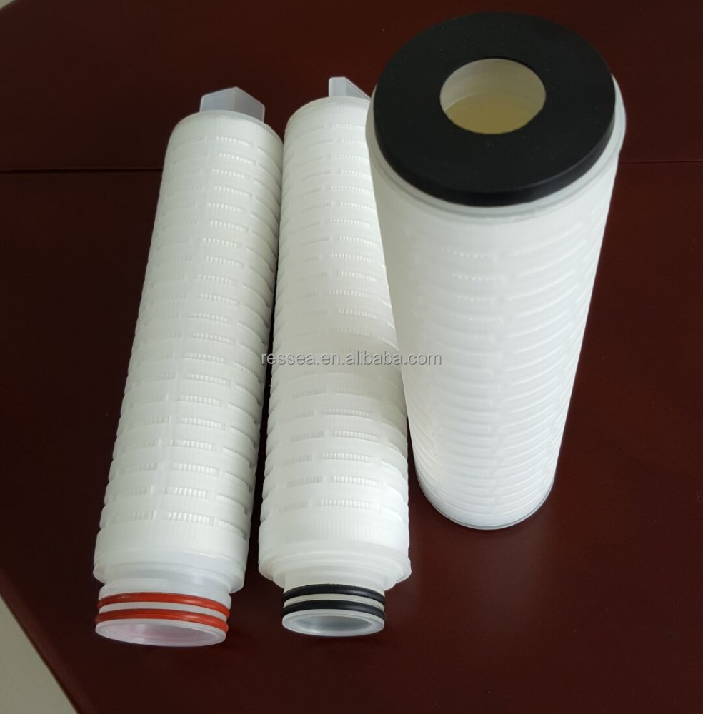 Absolute Rated PP Membrane 0.2 Micron Pleated Water Filter 20 Inch