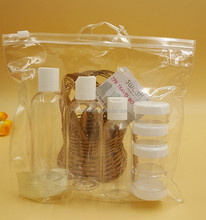 Leak Proof Refillable Travel Bottle Set With clear PVC Bag