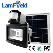 Solar Power Security 6W Solar LED Flood Light With PIR Motion Sensor