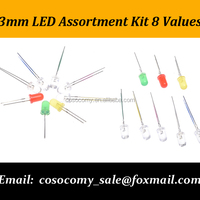3mm LED Assortment Kit 8 Values
