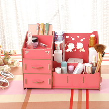 <strong>HOT</strong>! professional wood makeup organizer with drawers