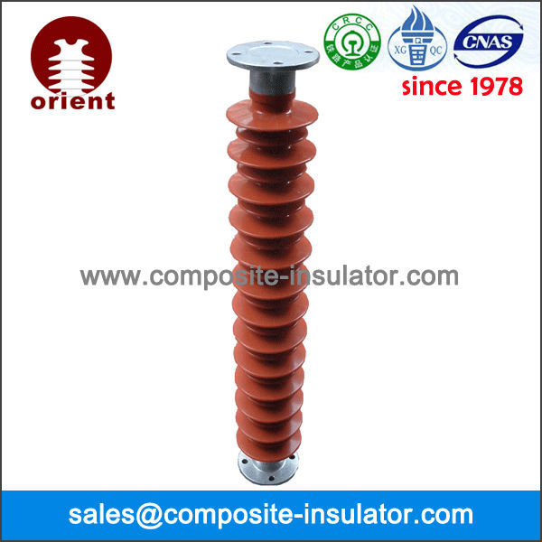 Composite polymer post insulators for substation