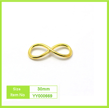 30mm 8 shape bracelet magnetic hook 18k gold clasp
