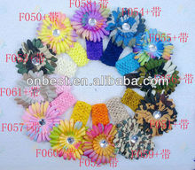Euro style beautiful ribbon flower hair band for babies
