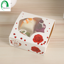 Recycled Materials Feature printed cakes paper box with window