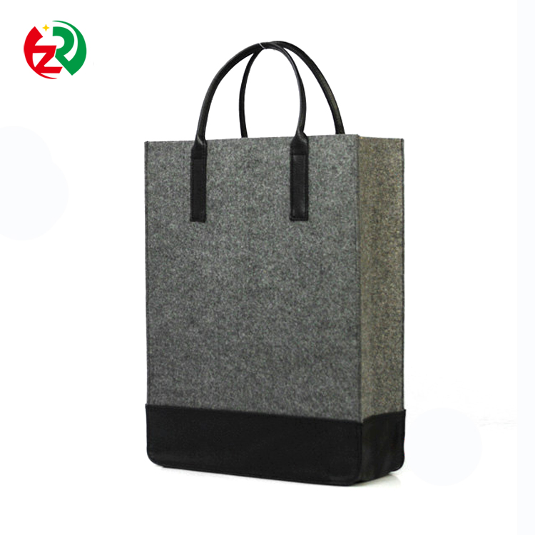 Expandable shopping tote handbag 3mm thick felt cheap duffle bags with logo