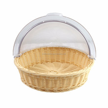 Hot Sale Round Plastic Fruit Basket Rack with Clear PC Cover