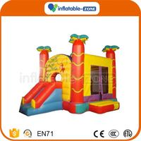 Professional inflatable bouncy jumping castle with water slide jumping inflatable castle