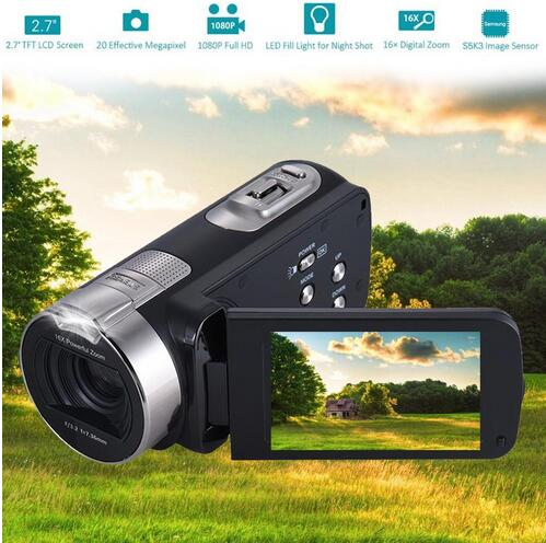 2.7 Inch 1080P HDV-312P Digital Video Camera 24 million Pixels Portable Home-use DV LCD Screen Digital Camera US/UK/EU Plug H