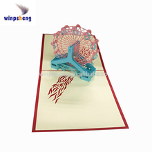3D pop up greeting card for business laser cutting machine