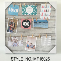 MDF Board clip frame&photo frame for home decoration