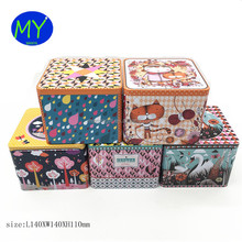 2017 Promotional Food Grade Custom Square Cookie Metal Tin Box