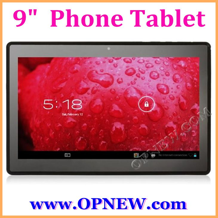 "Cheap 9"" Android 4.2 GSM/WCDMA/GPS Bluetooth Dual Core mtk6517 Phablet Tablet PC WiFi 2SIM"