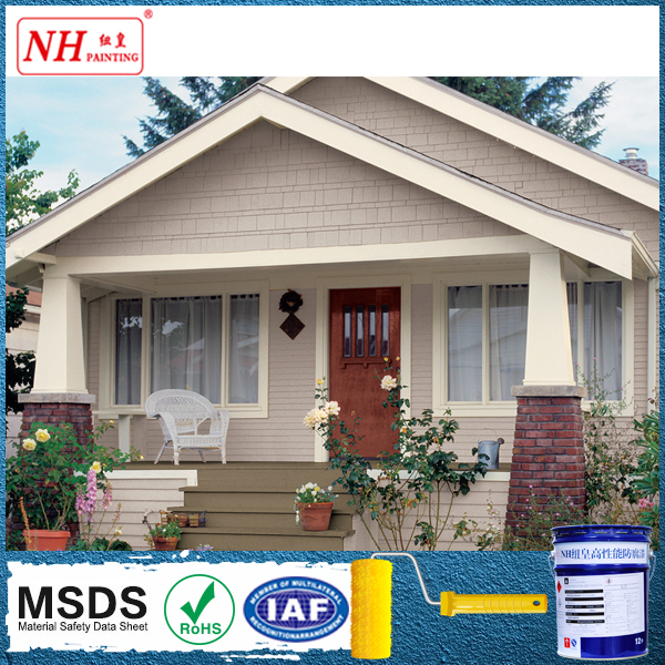 Self clean silicon acrylic waterproof exterior wall paint for Waterproof paint for exterior walls