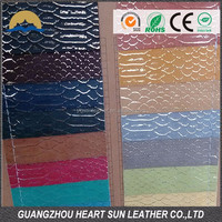 2014 snake skin pu laminated fabric leather effect fabric for fashion shoes
